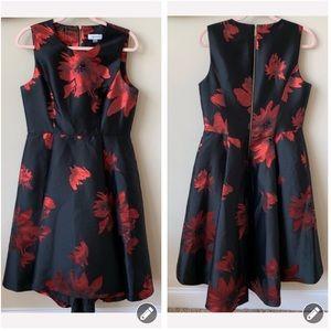 Calvin Klein metallic floral fit flare dress #865